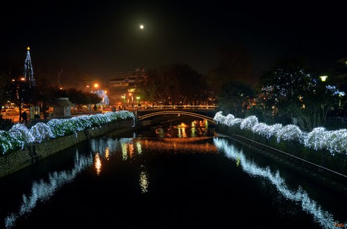 River Lithaios in Trikala, Greece.