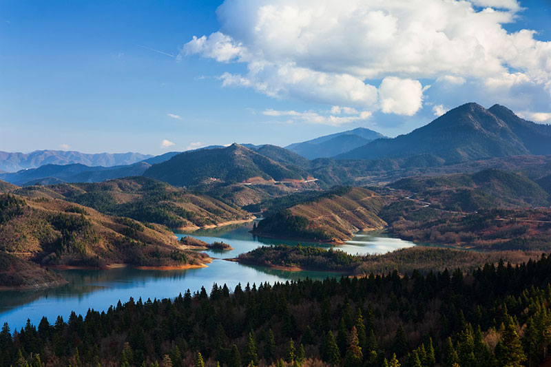 Plastiras lake in Karditsa