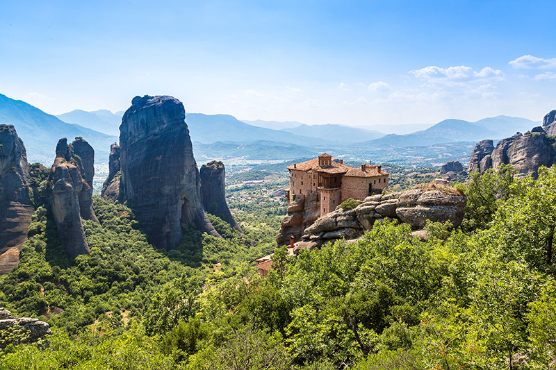 shutterstock_aMonasteries on the top of rock in a summer day in Meteora
