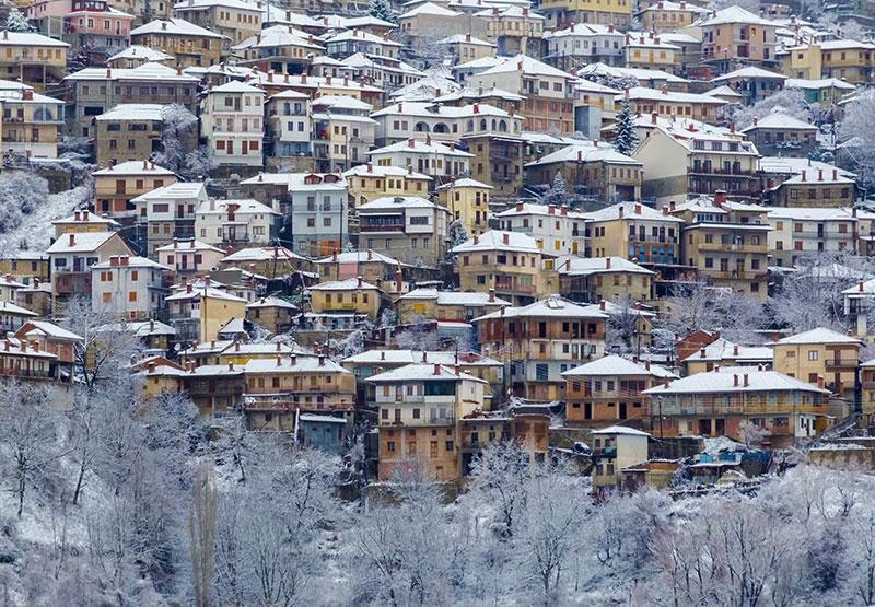 Metsovo city, Greece