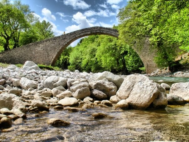 Arched stone bridge of Pyli (built 1514 AD), Thessaly
