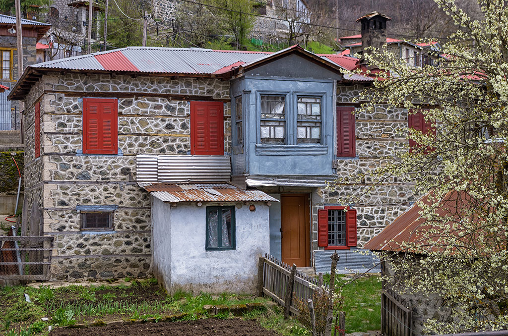Old house in the beautiful Milia village, near Metsovo, Greece, a popular winter destination