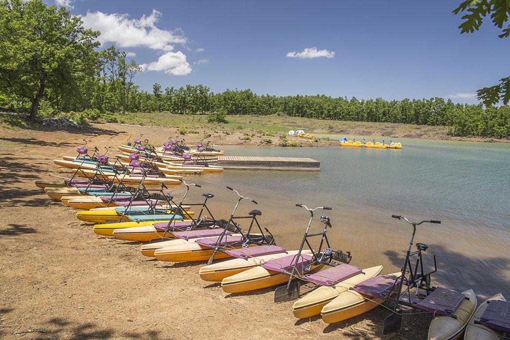 Hydro bikes in Plastiras lake, Karditsa, Greece