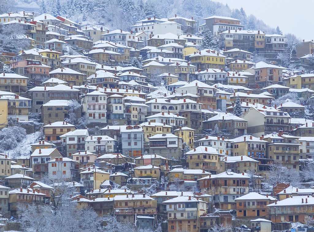 Metsovo city, Greece