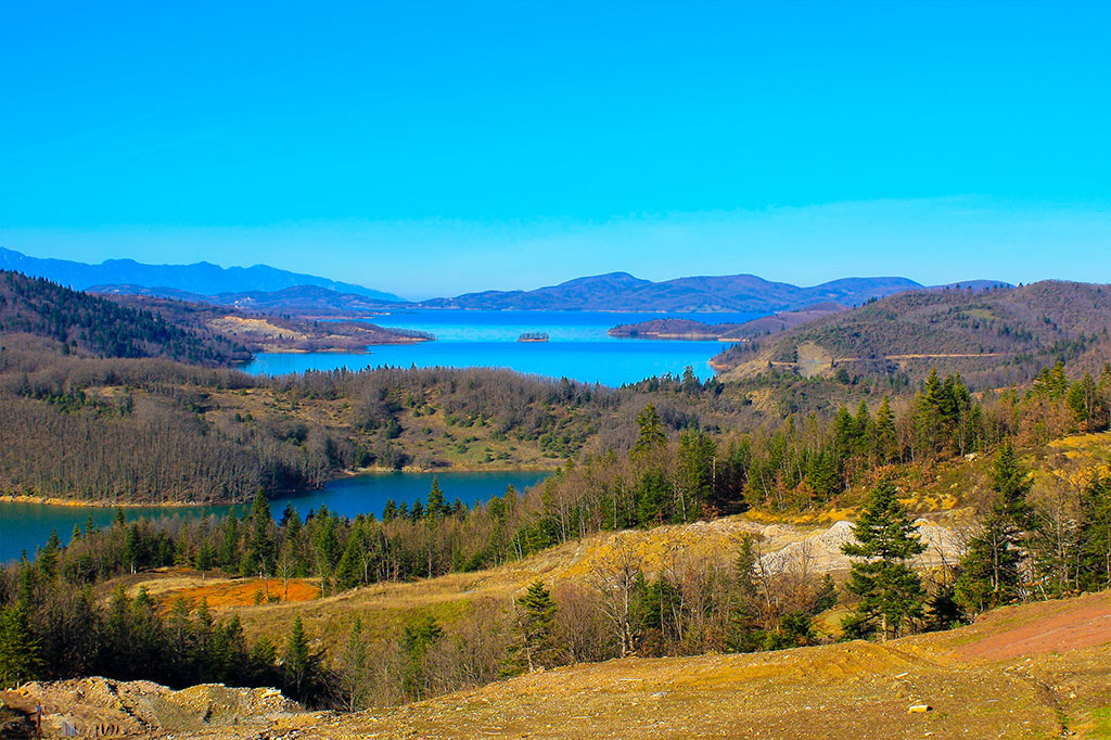 Plastira Lake. Greece. Panoramic view