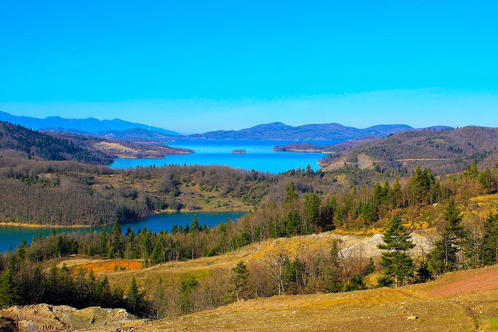 Plastira Lake. Greece. Panoramic view