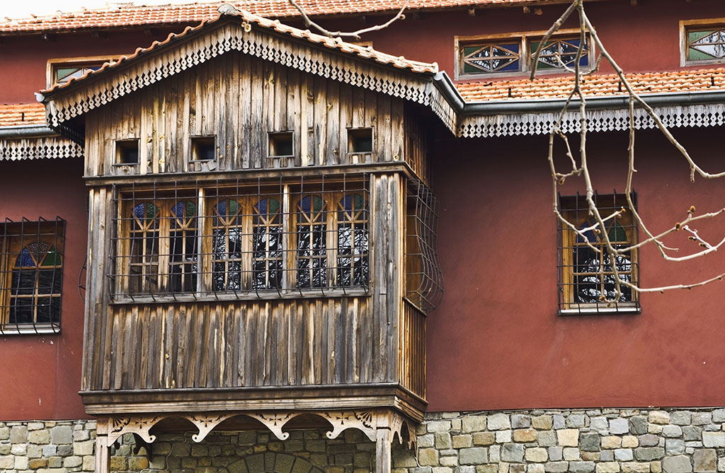 Old Greek monastery detail at Metsovo, Greece