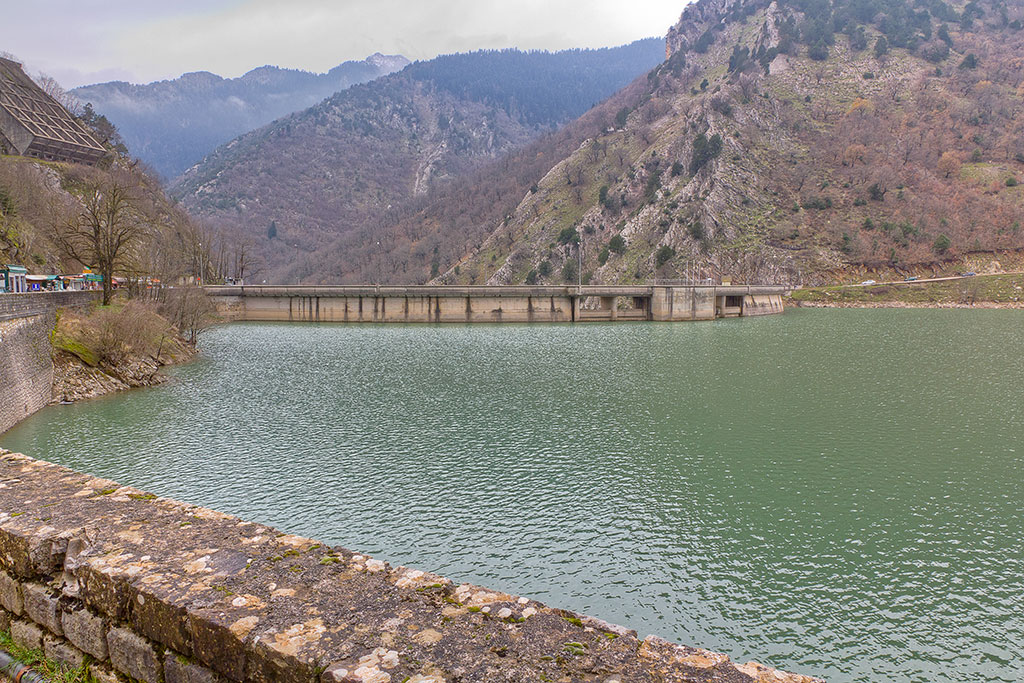 Lake Plastiras dam, Thessaly , Greece